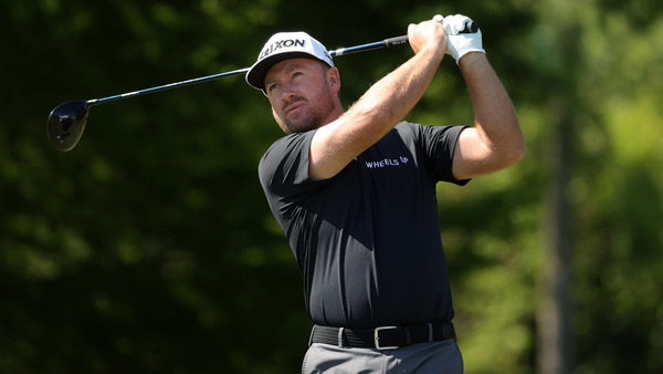Graeme McDowell plays his shot from the seventh tee during the first round of the Zurich Classic of New Orleans at TPC Louisiana