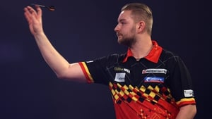 Van Den Bergh delivered two 12-dart legs to move into a 6-3 lead in the concluding match of night nine in Milton Keynes