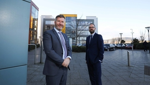 Expleo directors Rob McConnell and Scott Armstrong at the company's NI Headquarters in the Titanic Quarter, Belfast