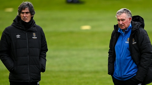 Waterford manager Kevin Sheedy (R) with his assistant Mike Newell