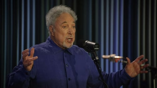 Tom Jones performing on The Late Late Show