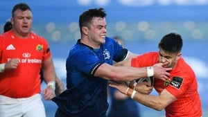 Ireland team-mates Conor Murray and James Ryan in action for Munster and Leinster on Saturday