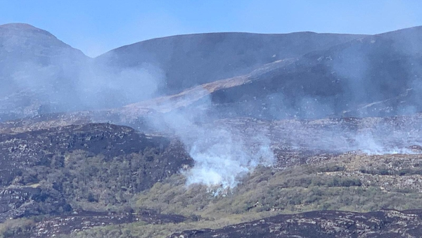 Smoke billowing from parkland in Killarney (pic: Cllr Patrick O'Connor-Scarteen)