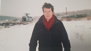 Paul Cunningham pictured in Chernobyl in 2006 on 20th anniversary of nuclear reactor explosion