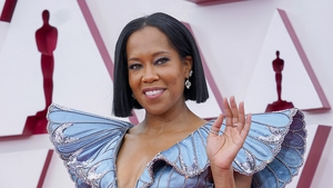 One Night in Miami's Regina King arriving at the 93rd Academy Awards