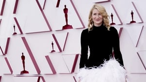 Laura Dern on the reduced red carpet at this year's Oscars