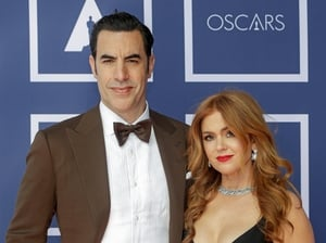 Sacha Baron Cohen and Isla Fisher joined the ceremony from Australia