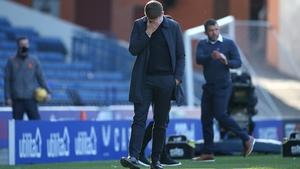 Steven Gerrard cuts a dejected figure at Ibrox