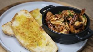 Wade's Spanish garlic shrimp