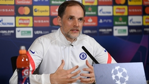 Chelsea coach Thomas Tuchel speaks to the media ahead of the first leg