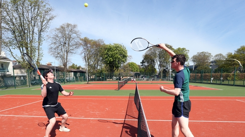 Tennis courts were among the facilities to reopen today