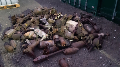 Catalytic converters were seized at a storage facility in Dublin 11