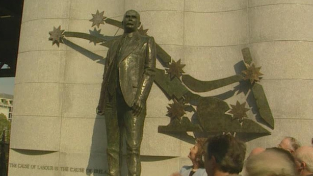Unveiling of James Connolly Statue in Dublin (1996)