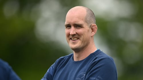 Devin Toner training with Leinster on Tuesday