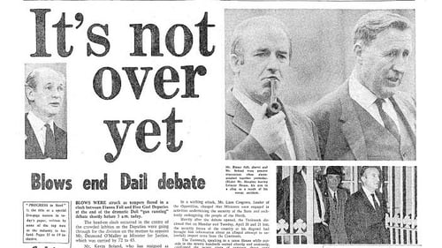 Irish Independent headline from 7th May 1970