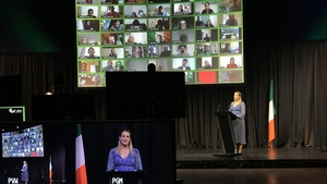 The ceremony took place on Zoom due to Covid-19 restrictions