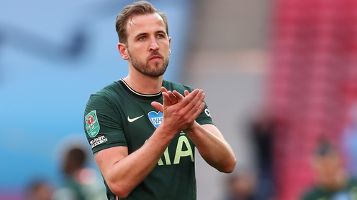 A dejected Harry Kane after the Carabao Cup final loss to Manchester City