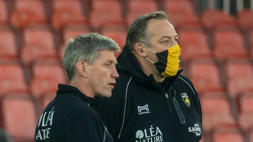 Ronan O'Gara and La Rochelle's Director of Rugby Jono Gibbes