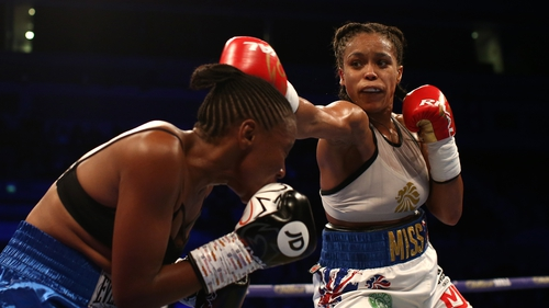 Natasha Jonas in action against Feriche Mashauri