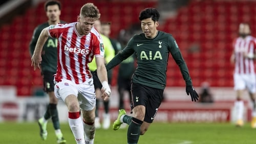 Collins up against Tottenham's Son Heung-min in this season's Carabao Cup