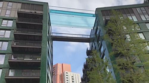 London's first 'Sky Pool' in Nine Elms Embassy Gardens development. (Pic: Nick Curtis)