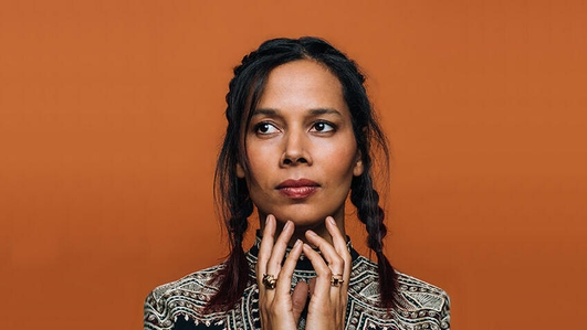 Marty chatting with Rhiannon Giddens