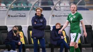 Ireland manager Vera Pauw and striker Amber Barrett