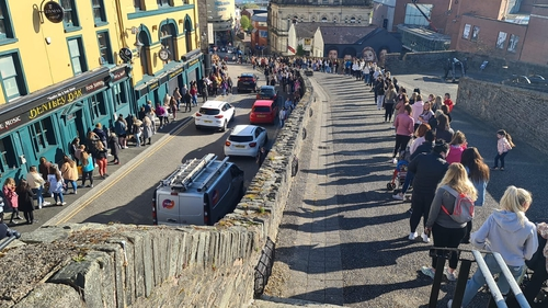 Long queues outside Primark in Derry