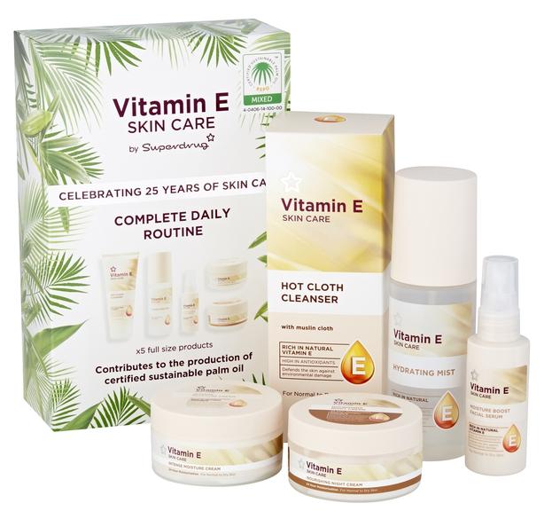 Superdrug Vitamin E 25th Birthday Skincare Set