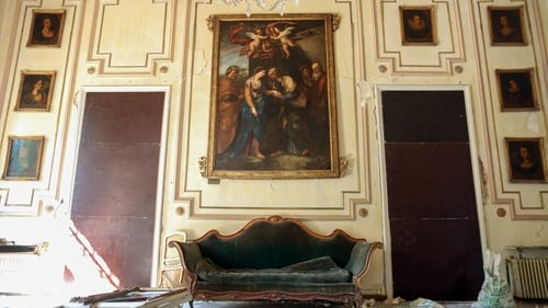 Furniture and artworks were damaged in the Sursock Palace after the Beirut port explosion