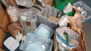 Suspected cocaine, cannabis, and tablets were uncovered following a number of searches on Thursday