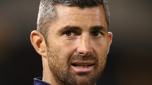 Rob Kearney had to look on from the sidelines
