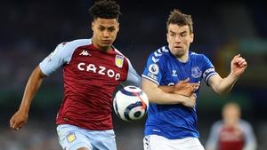 Villa match-winner Ollie Watkins gets the edge of Ireland skipper Seamus Coleman.