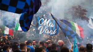 Inter fans took to the streets of Milan to celebrate the title win