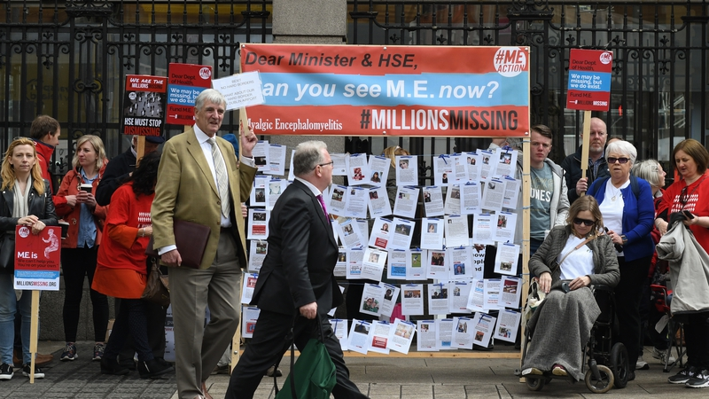 The Millions Missing Campaign in Dublin in 2018 which was to highlight the millions of 'missing' patients with ME around the world. Photo: Getty Images