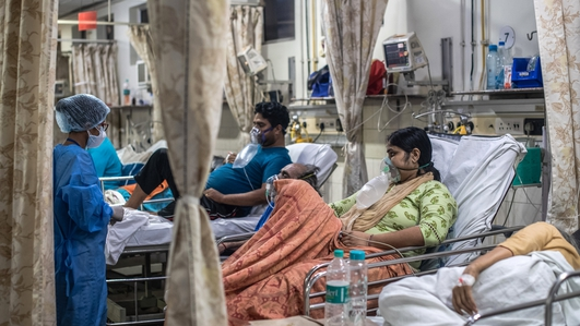 Indian health system crumbles under weight of Covid battle
