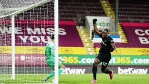 Michail Antonio celebrates his second goal