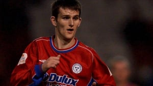 Alan Keely playing for Shelbourne in 2001