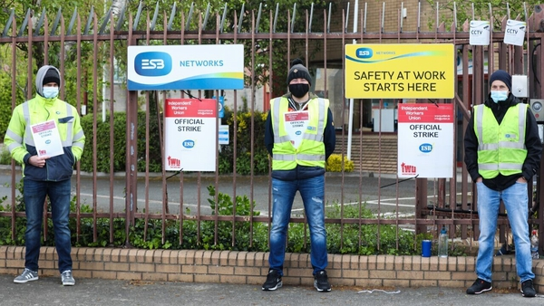 ESB Technicians belonging to the IWU are staging industrial action