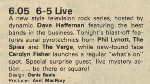 RTÉ Guide 6-5 Live, 16 May 1981