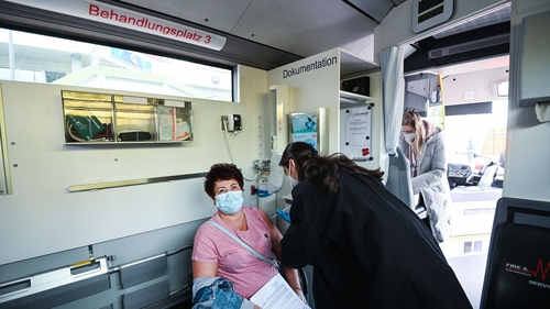 Mobile vaccination stations are being used to administer jabs in Cologne