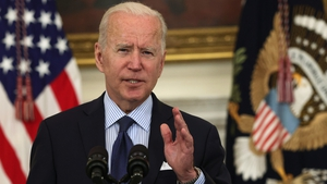 Joe Biden will use a meeting with Boris Johnson on Thursday to explicitly express US support for the Protocol (File pic)