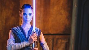 Disney the lightsaber will extend, retract, and light up at the touch of a button