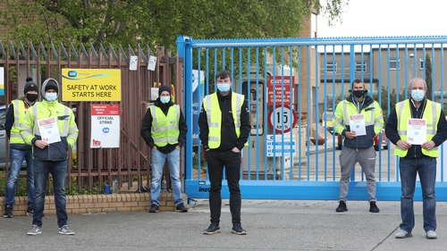 The IWU insists it is receiving a high level of support from members of other unions refusing to pass their pickets (pic: RollingNews.ie)