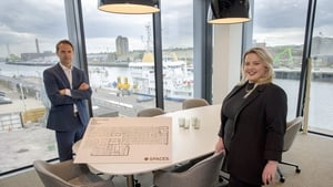 Kenneth Dwyer, Sales Director, IWG and Kayleigh Houlihan, Area Sales Manager - Cork, IWG pictured at the new Horgan's Quay development in Cork City