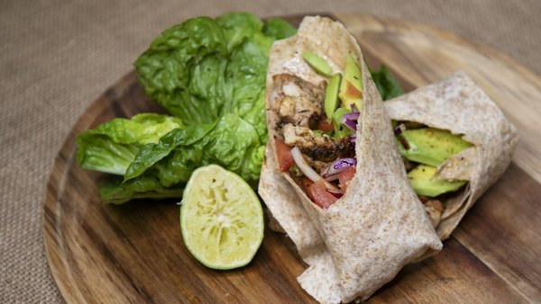 Kevin Dundon's grilled chicken fajitas.