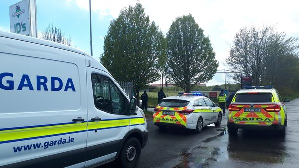 Gardaí say they were at the scene to support the local authority in serving the court order