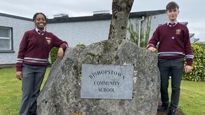 Mariam Malu Tiku and Yakub Packo who are students are Bishopstown Community School