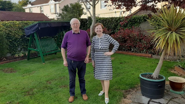 Ned and Rita Buckley pictured in their garden in Co Meath