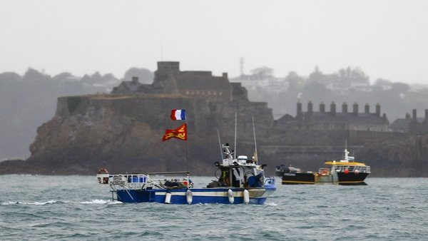 File photo. French boats at a protest in Jersey earlier this year